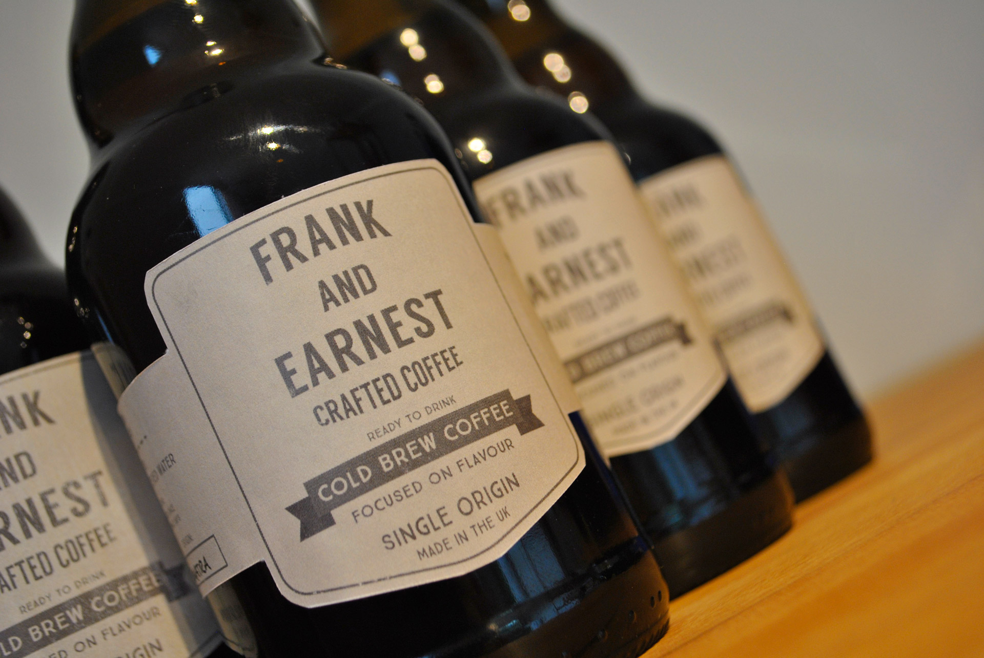 Frank and Earnest Crafted Coffee Cold Brew Bottle