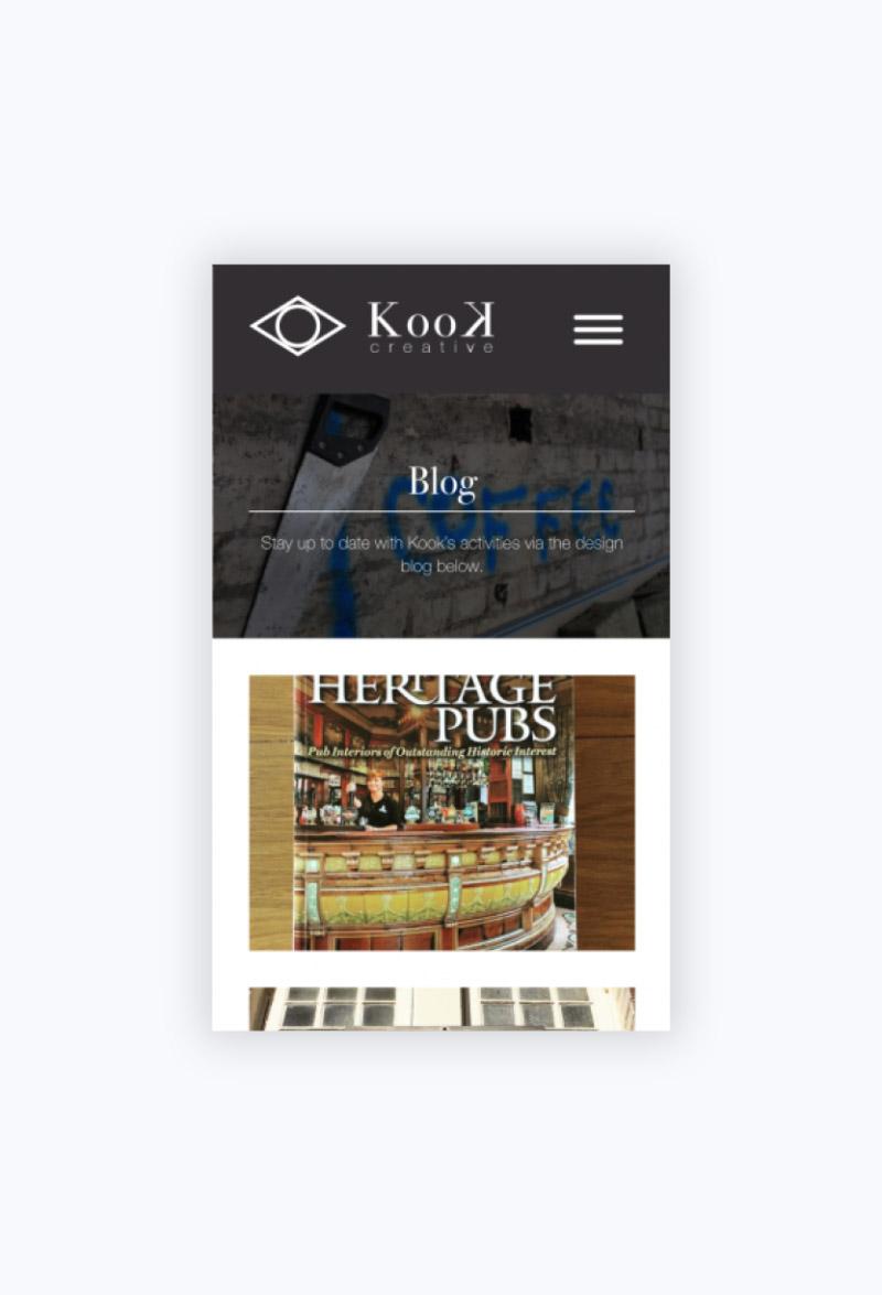 Kook Creative Blog Page Mobile