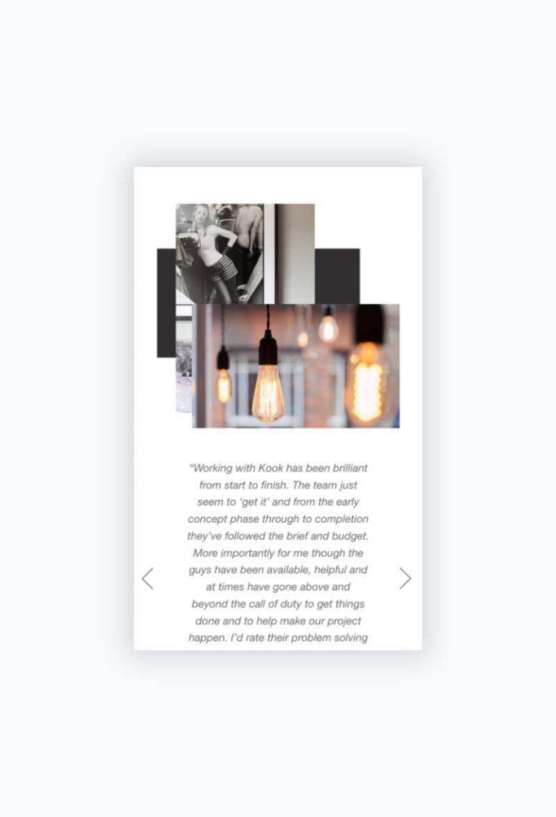 Kook Creative Studio Page Mobile