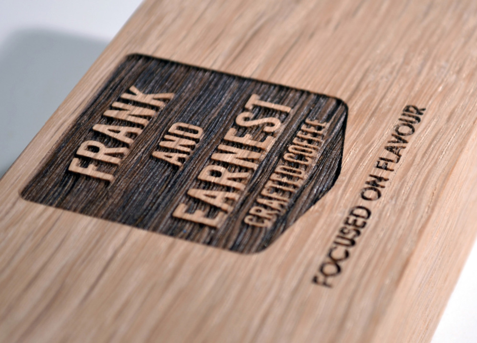 Frank & Earnest brand on wood