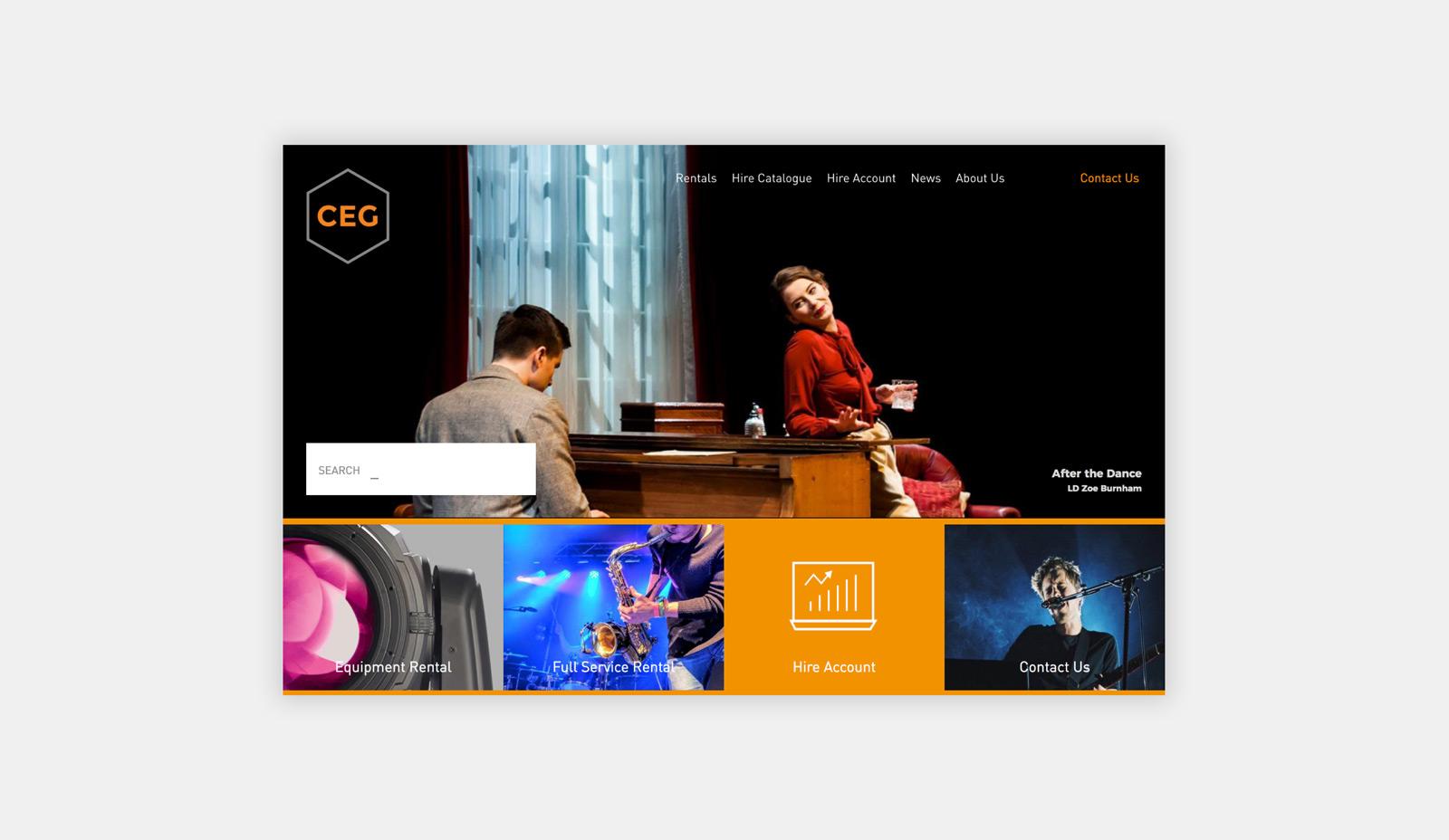 CEG Hire & Productions Web