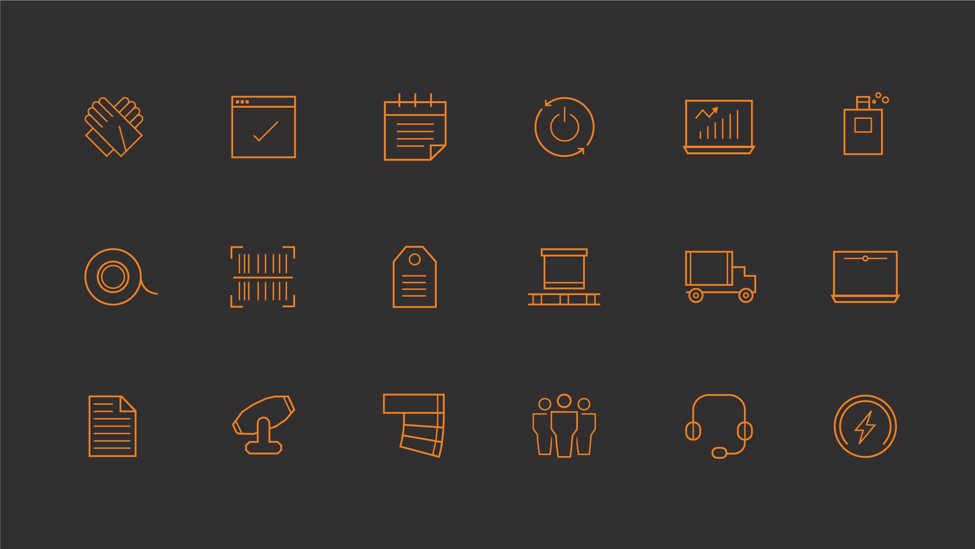 CEG Hire & Productions Icon Set
