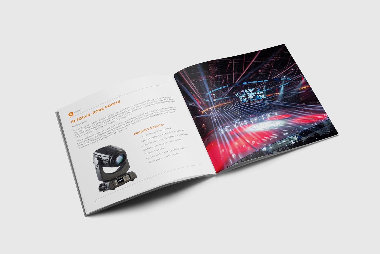 CEG Hire & Productions Catalogue Spread