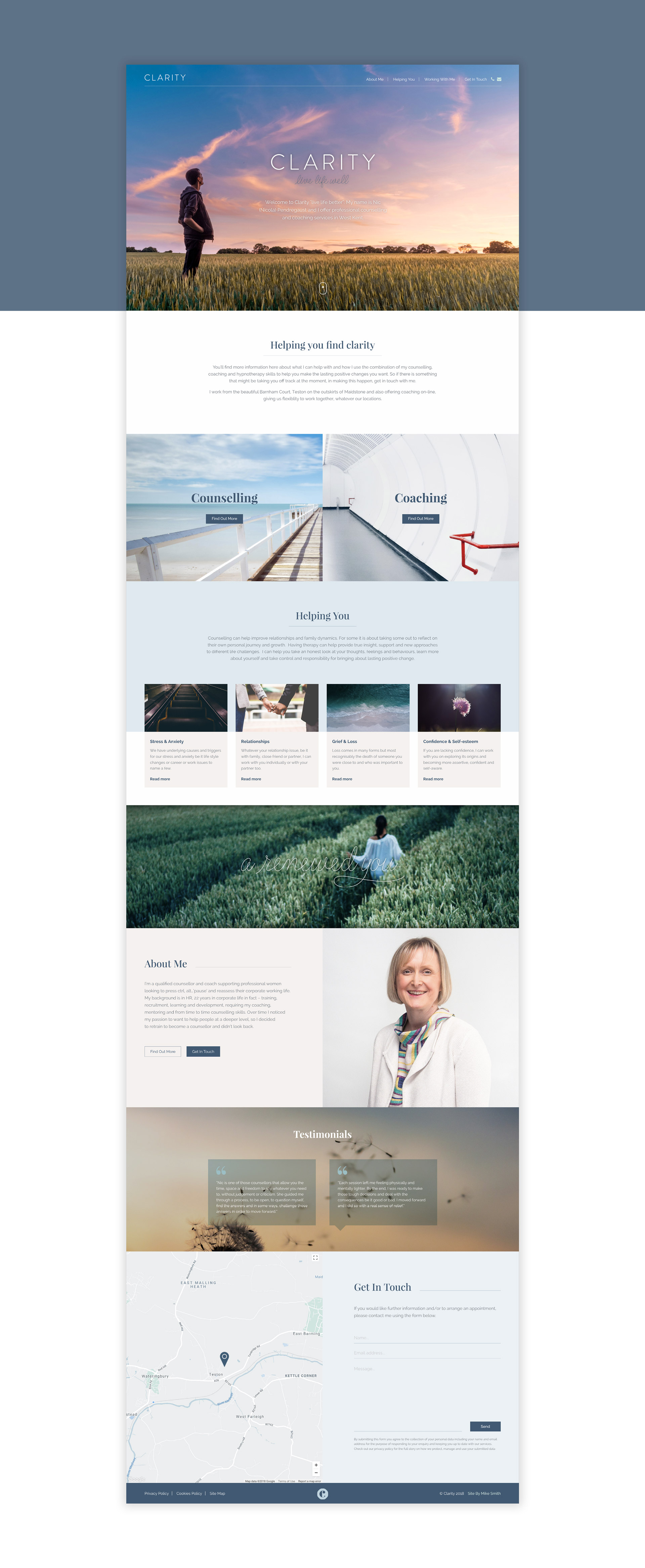 Clarity Home Page