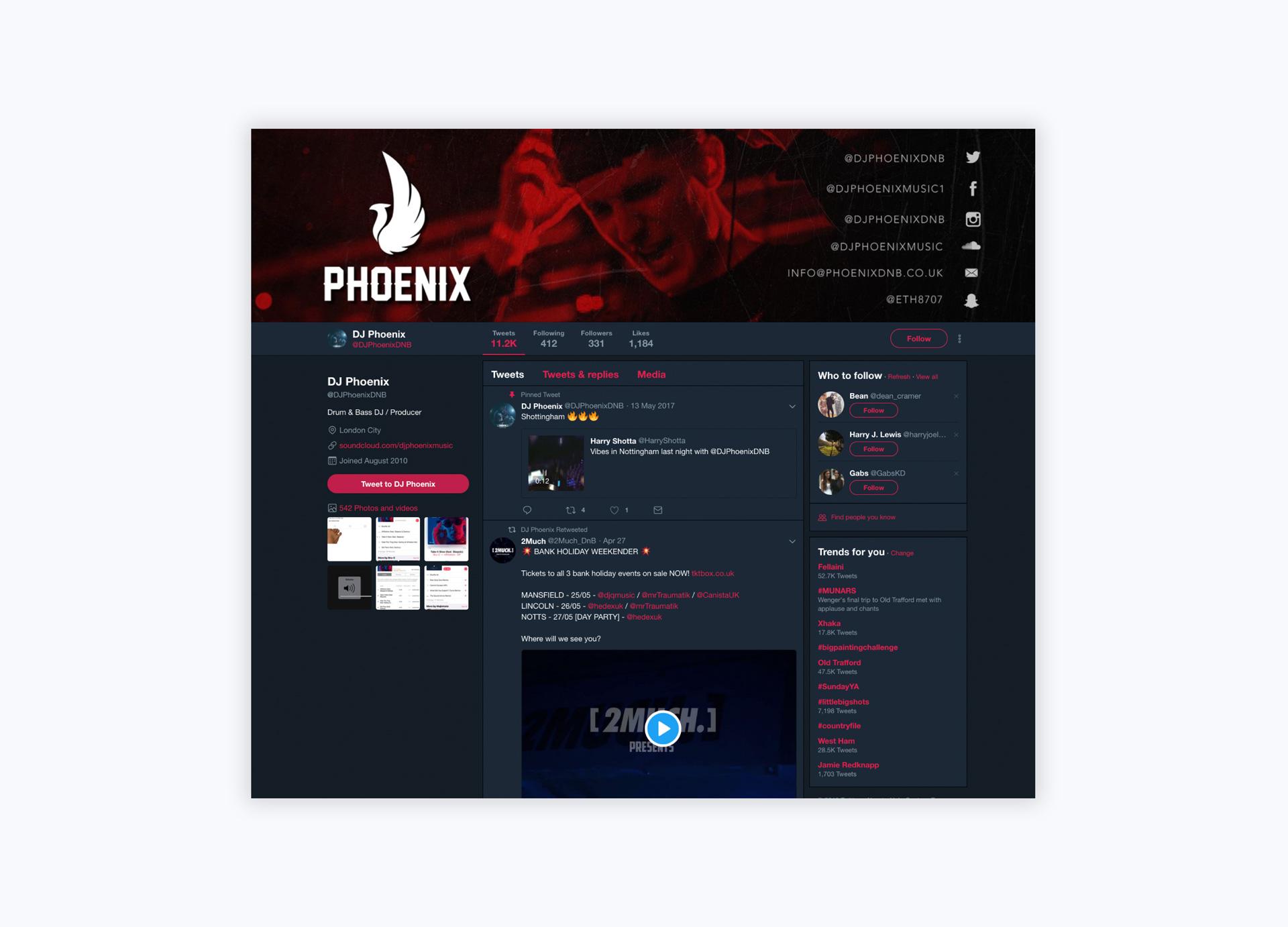 DJ Phoenix Twitter