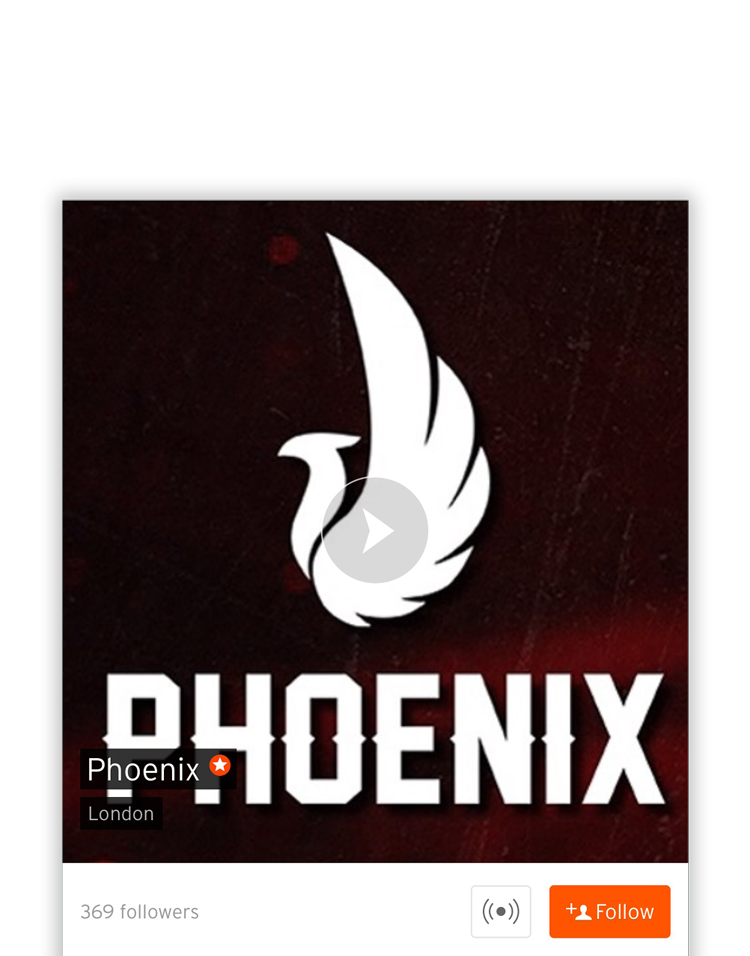 DJ Phoenix Soundcloud Mobile