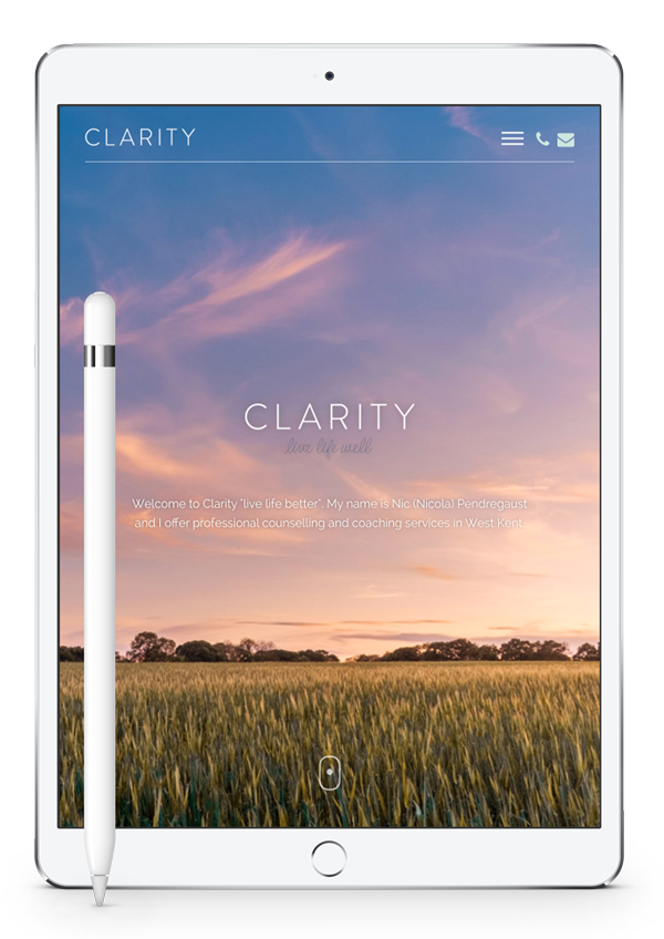 Clarity Home Page iPad