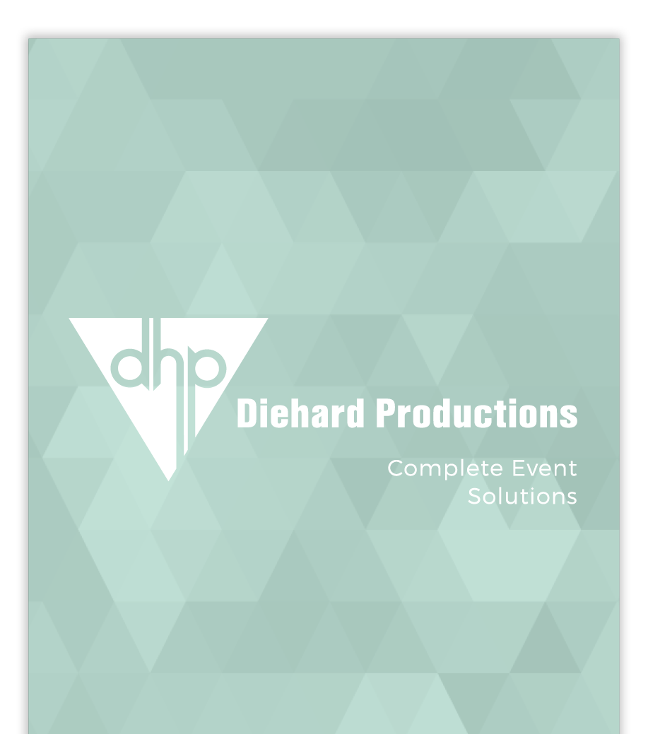 Diehard Productions Brochure Cover