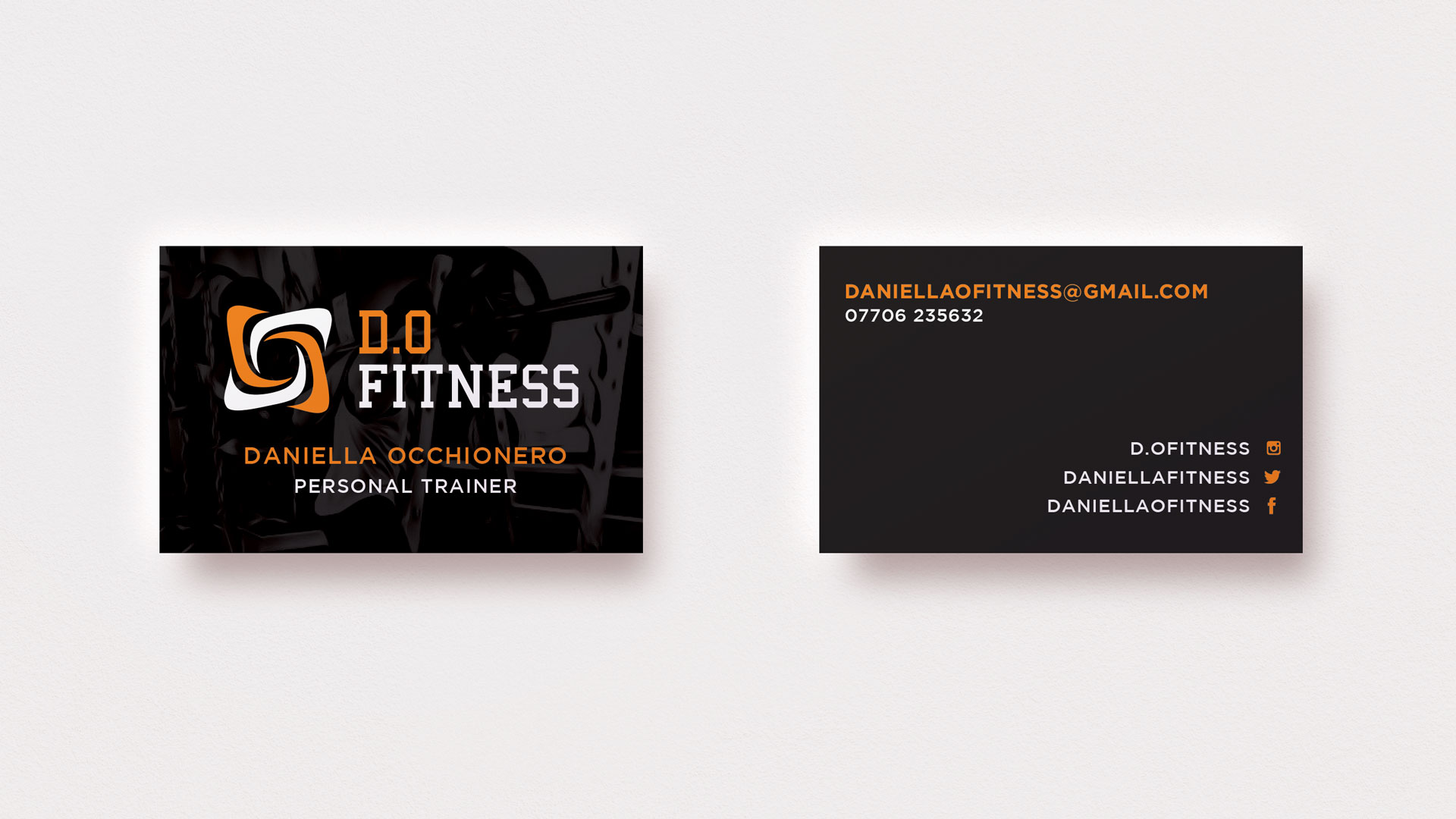 D.O Fitness Business Cards
