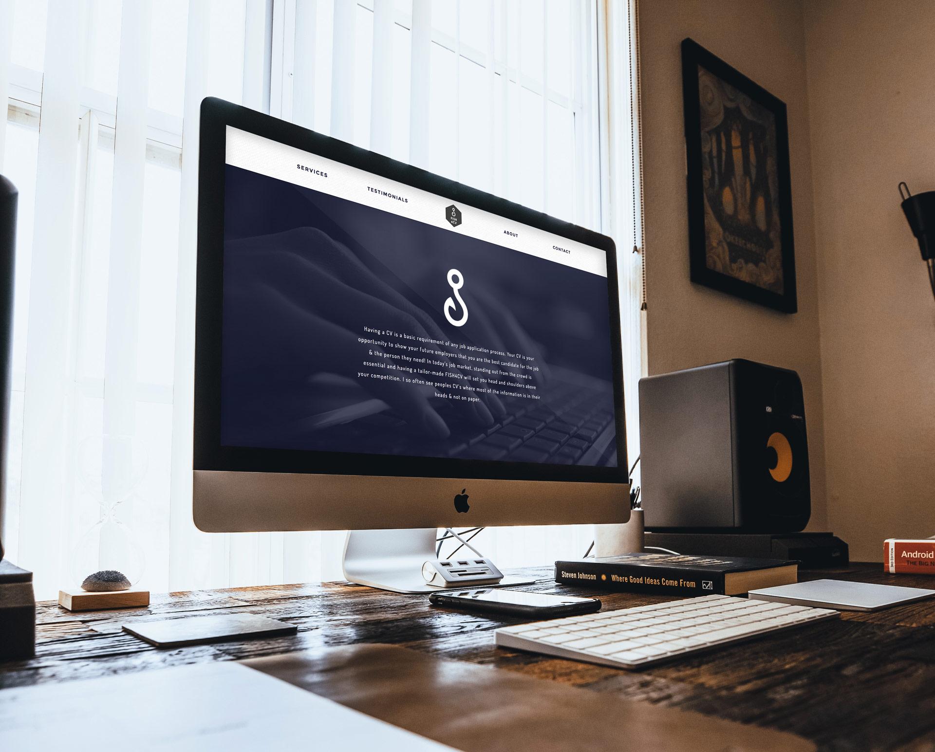 Fish 4 CV website iMac