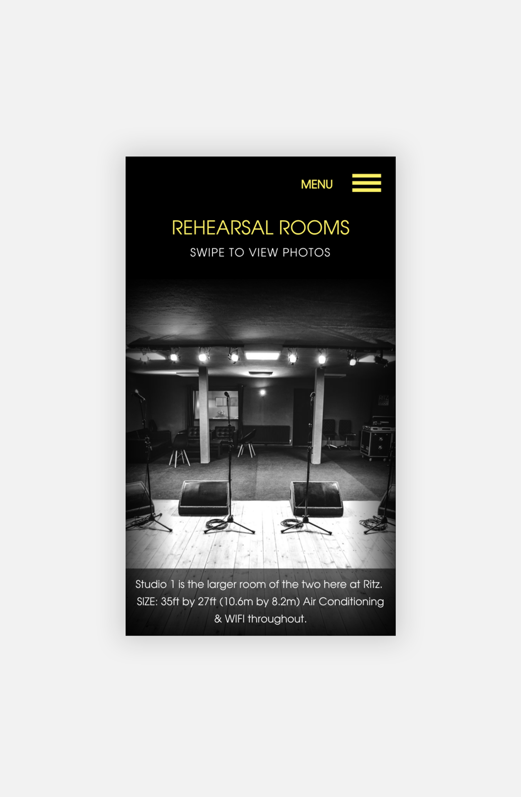 Ritz Rehearsal Studios Gallery