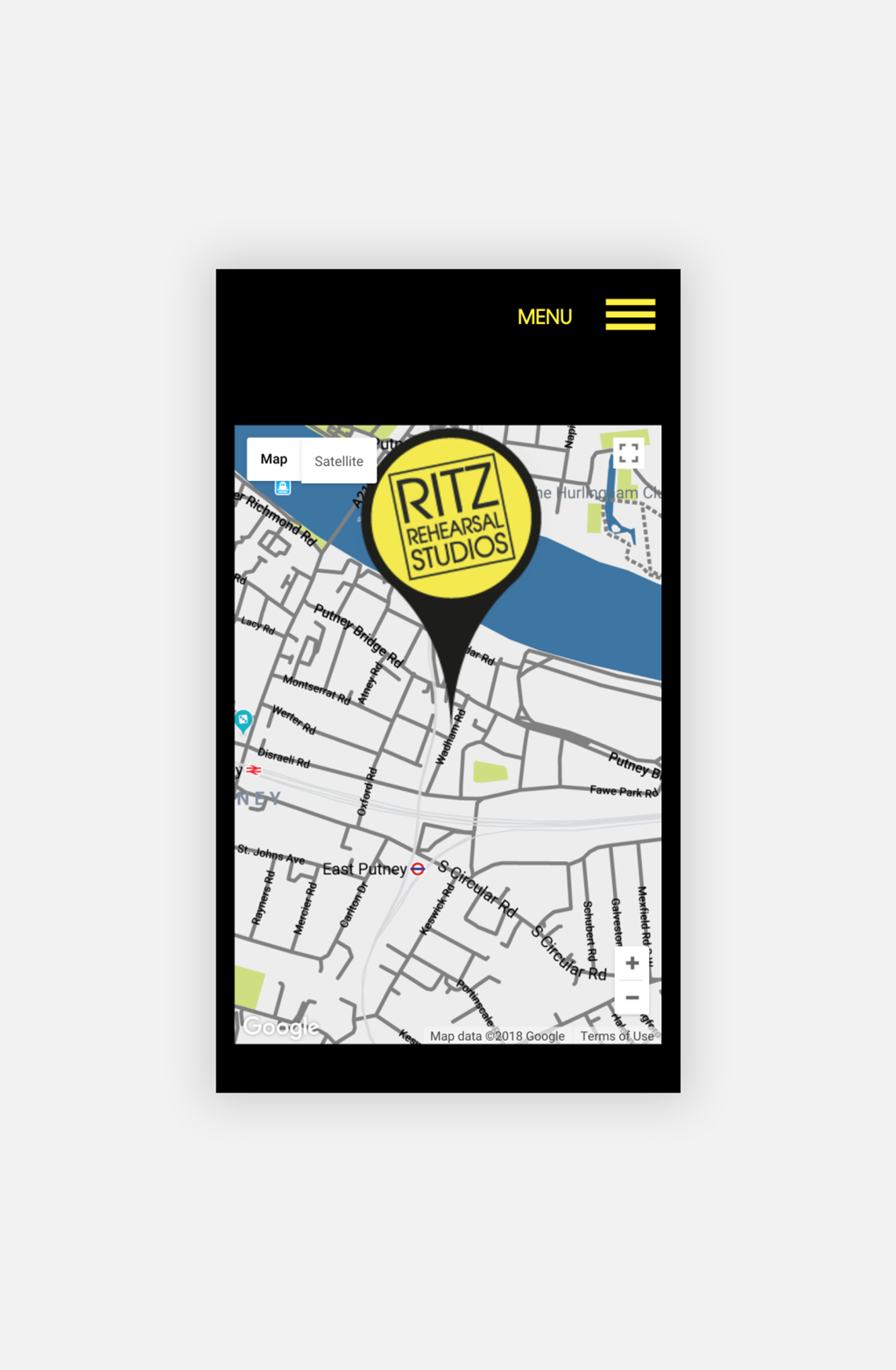 Ritz Rehearsal Studios Map