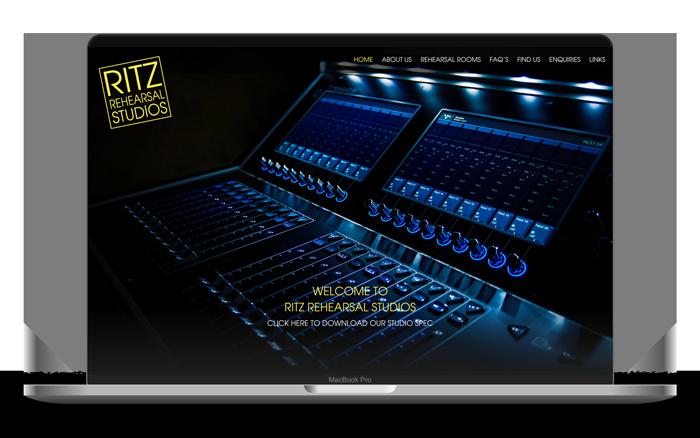 Ritz Rehearsal Studios Macbook