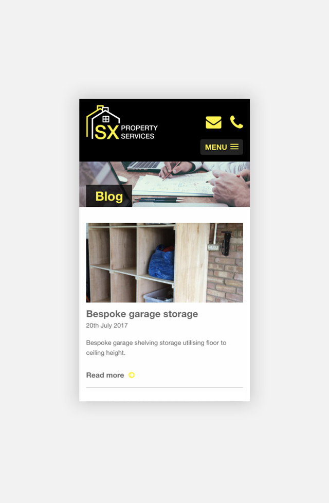 SX Property Services Blog Page Mobile