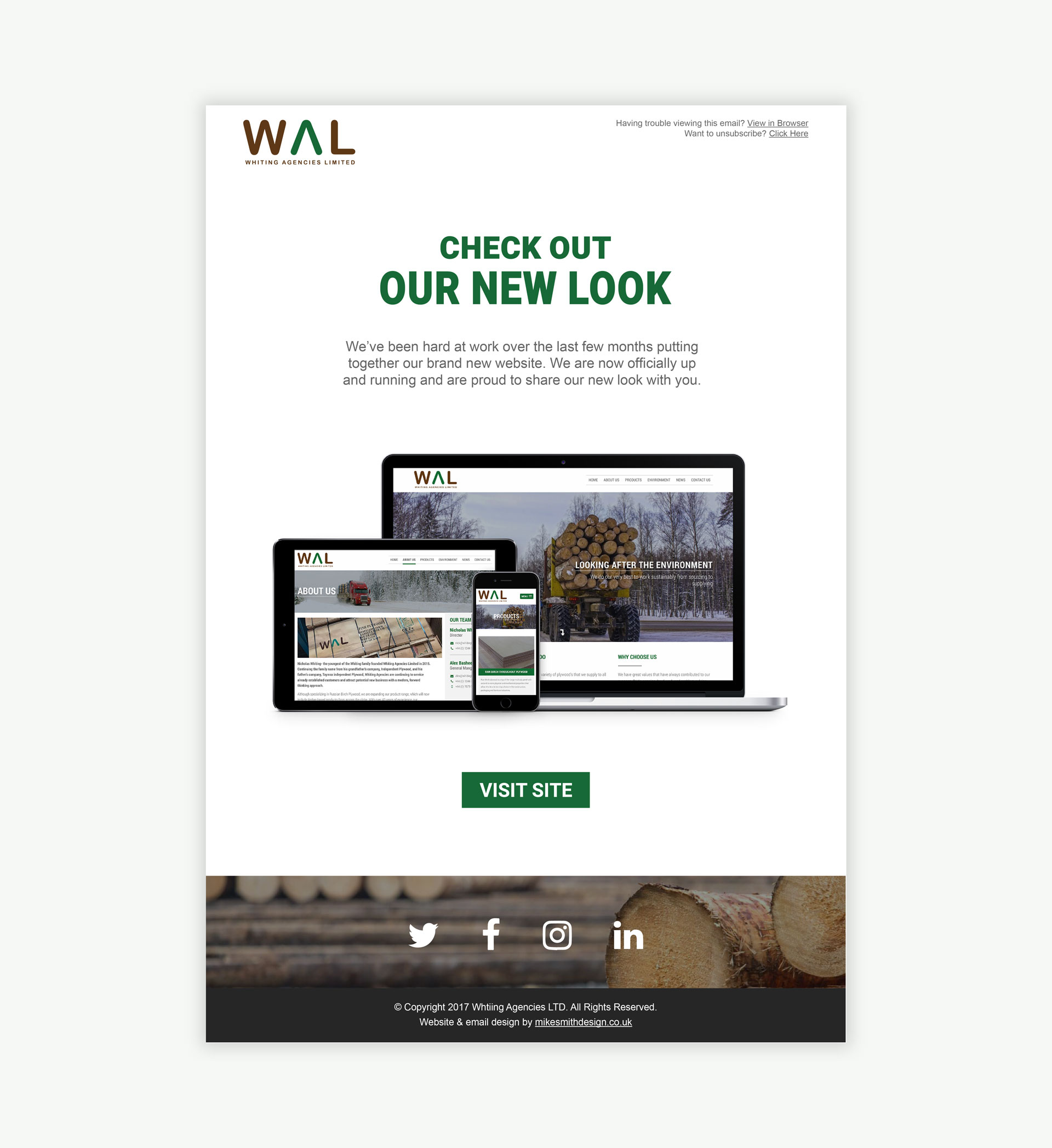 Whiting Agencies Limited Email Campaign