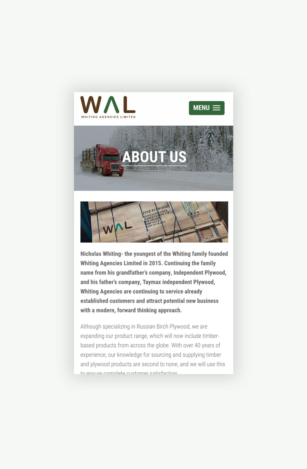 Whiting Agencies Limited About Us Page