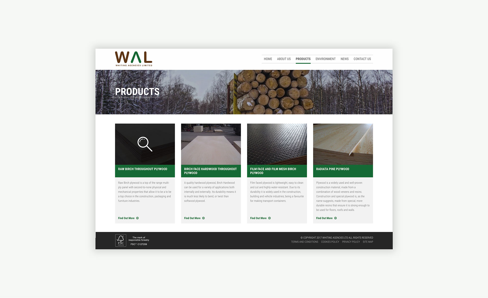 Whiting Agencies Limited Product Page